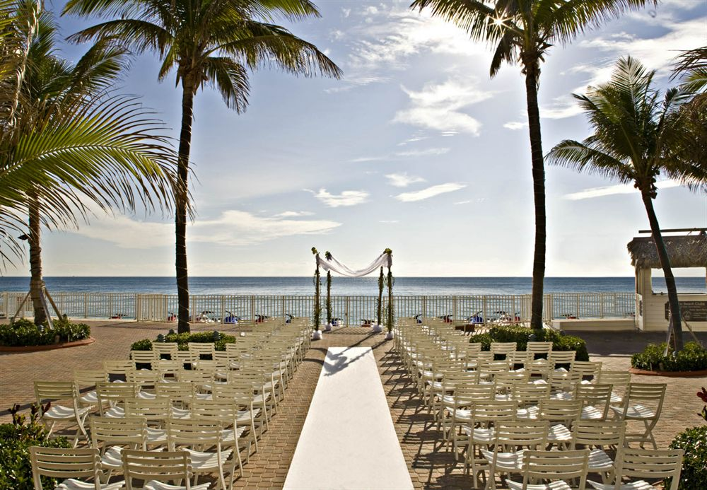 Ocean Sky Hotel- Pool Deck Setup for Wedding