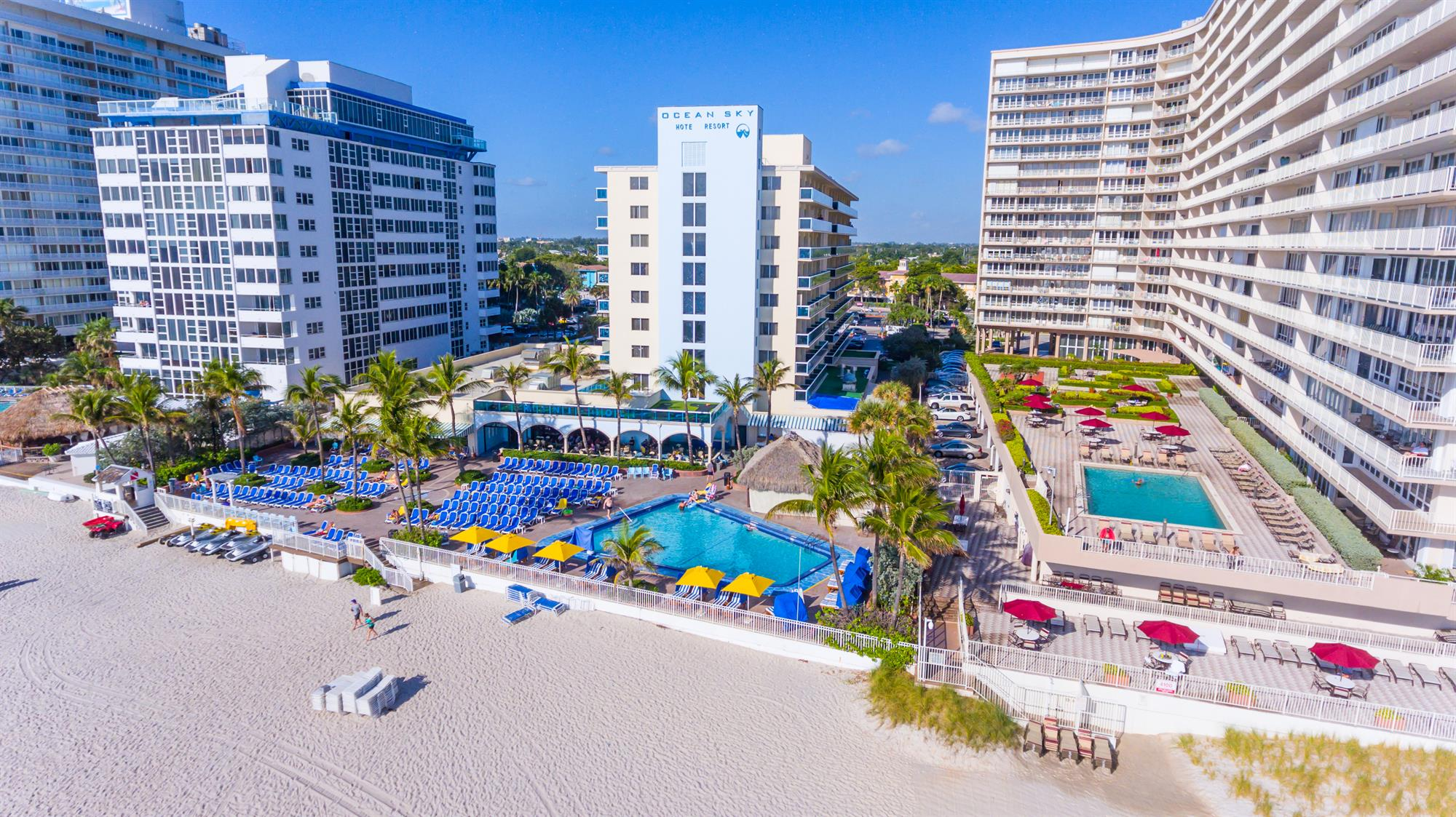 Ocean Sky Hotel-Pool Deck and Beach