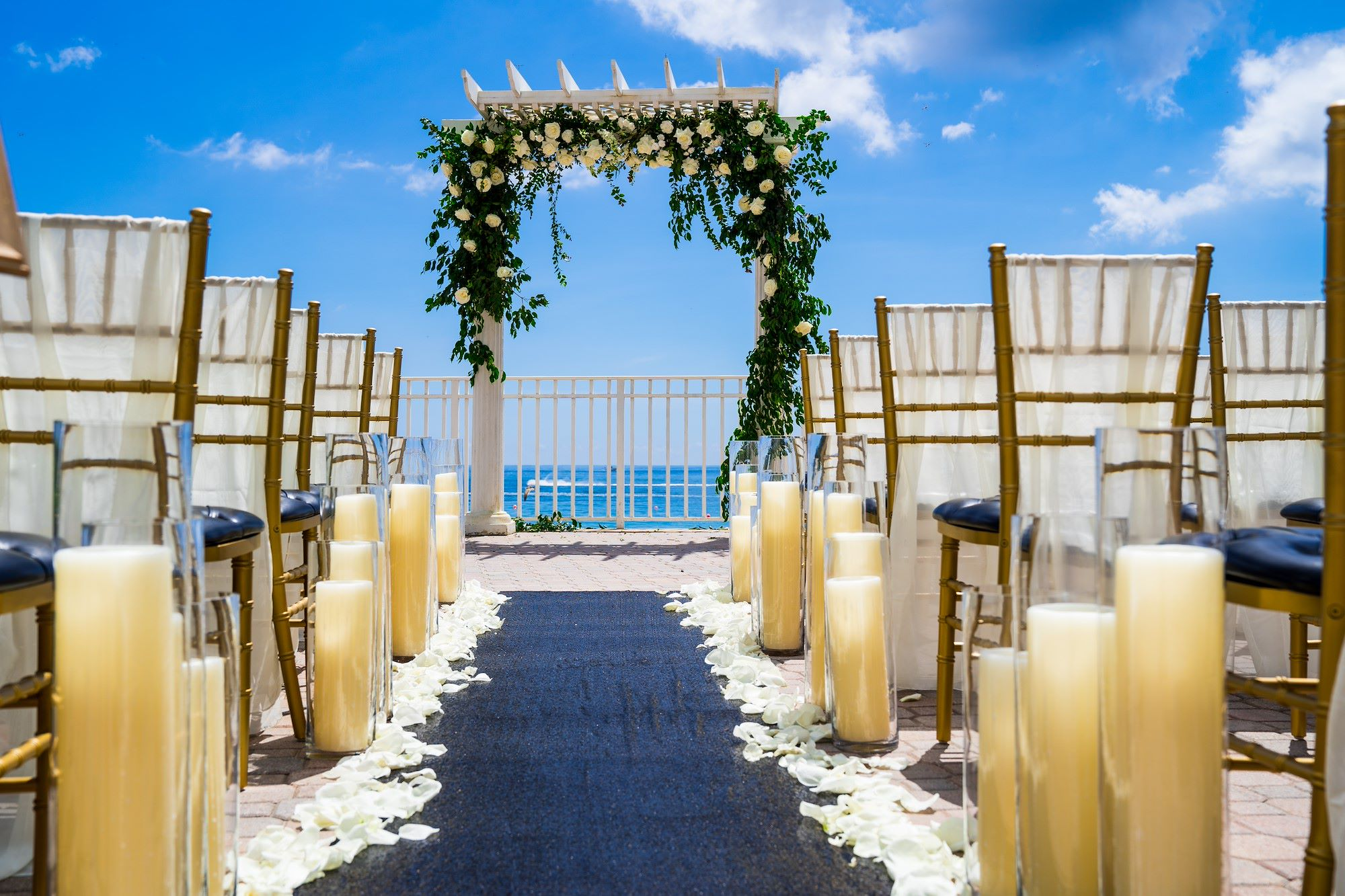 Ocean Sky Hotel- Pool Deck Setup for Wedding